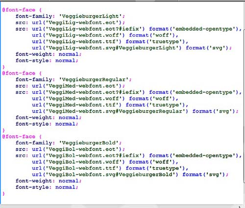 html font bold