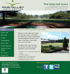 Snapshot of Pine Valley Golf Centre Site